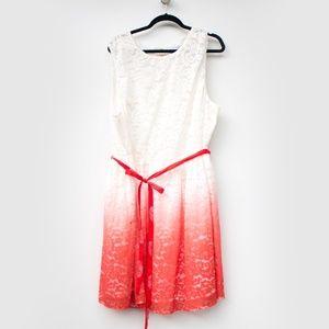 ASOS Curve   White Ombre A Line Lace Dress